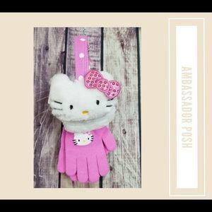 Hello Kitty Earmuffs & Glove Set